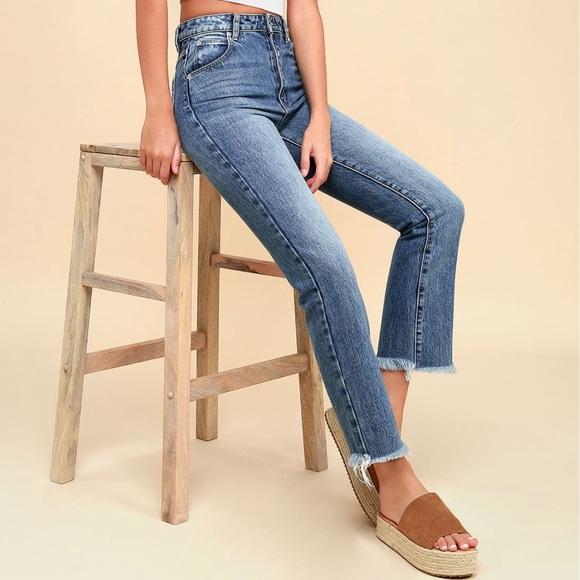 2eff6305526a Rolla's Jeans | Straight Medium Wash High Rise Cropped | Poshmark